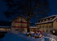 Silvester - Feuershow im Schnee
