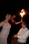 Feuershow zur Hochzeit