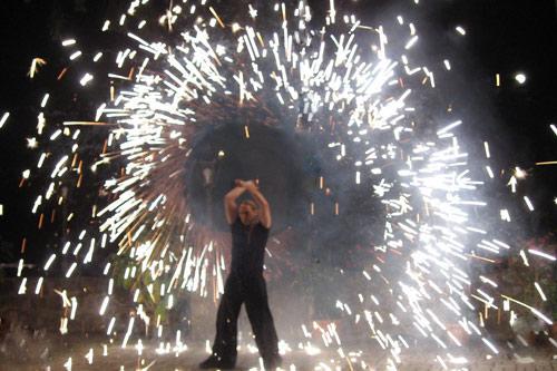 Pyroeffekt Feuerwerk