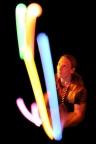 Leuchtshow Jonglage 5 Bälle