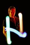 Leuchtshow Leuchtballjonglage