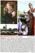 Zeitungsbericht Mittelaltermarkt Ingelheim