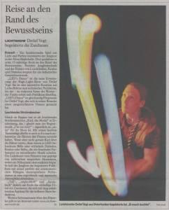 Pressebericht über Lichtkünstler Detlef Vogt