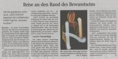 Pressebericht zur Lichtjonglage von Detlef Vogt