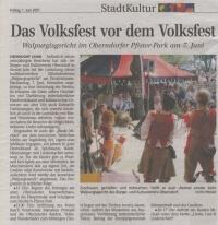 Detlefocus Flammenus der Gaukler und sein Weib Dasha am Walburgisgericht in Oberndorf