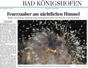 Feuershow zur langen Einkaufsnacht Bad Königshofen