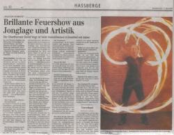 Interview zum Varietefestival - Neue Presse 11. Mai 2006