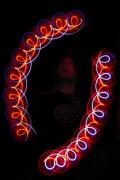 Leuchtdiabolos in der Leuchtshow