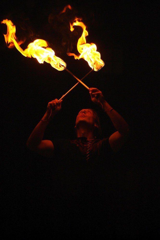 Feuershow Fackeln