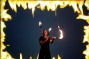 Feuershow mit Feuerjonglage zur Jahresauftaktveranstaltung