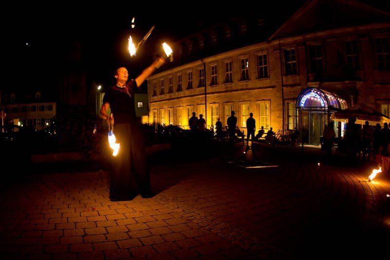 Bamberg Feuershow Fackeljonglage