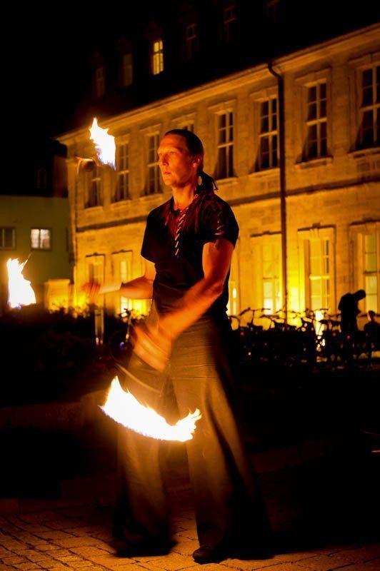 Fackeljonglage Feuershow Bamberg