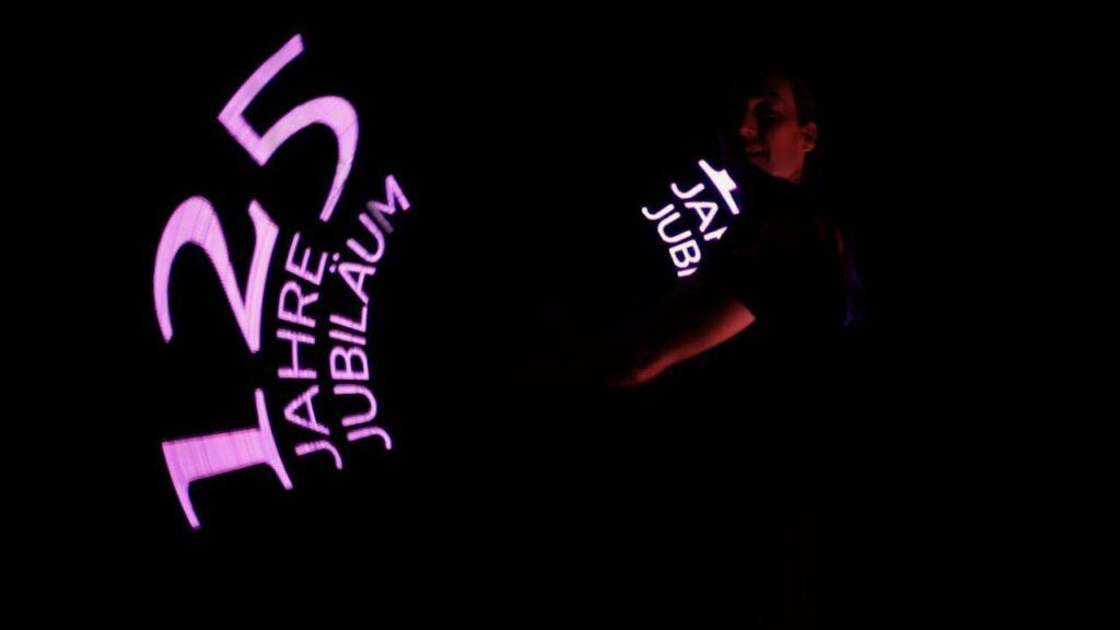 Leuchtshow 125 Jahre Jubiläum