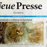 Feuershow Zeitungsauschnitt Detlef Vogt