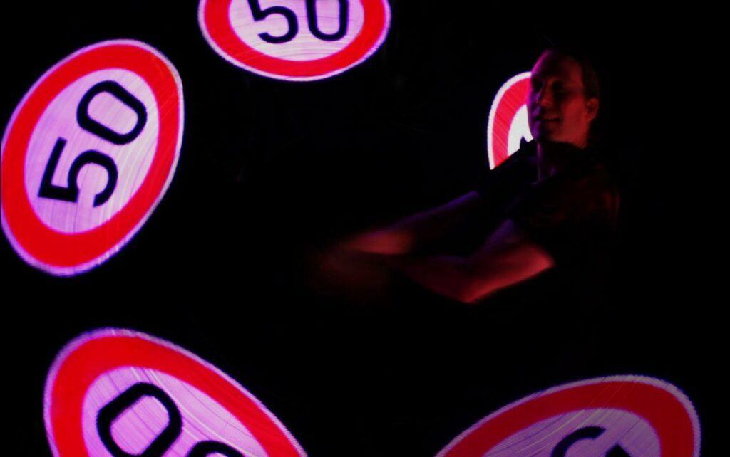 Lichtshow Geburtstag 50