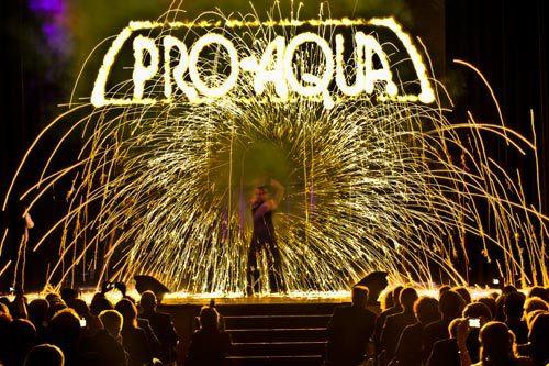 Feuershow Firmenfeier